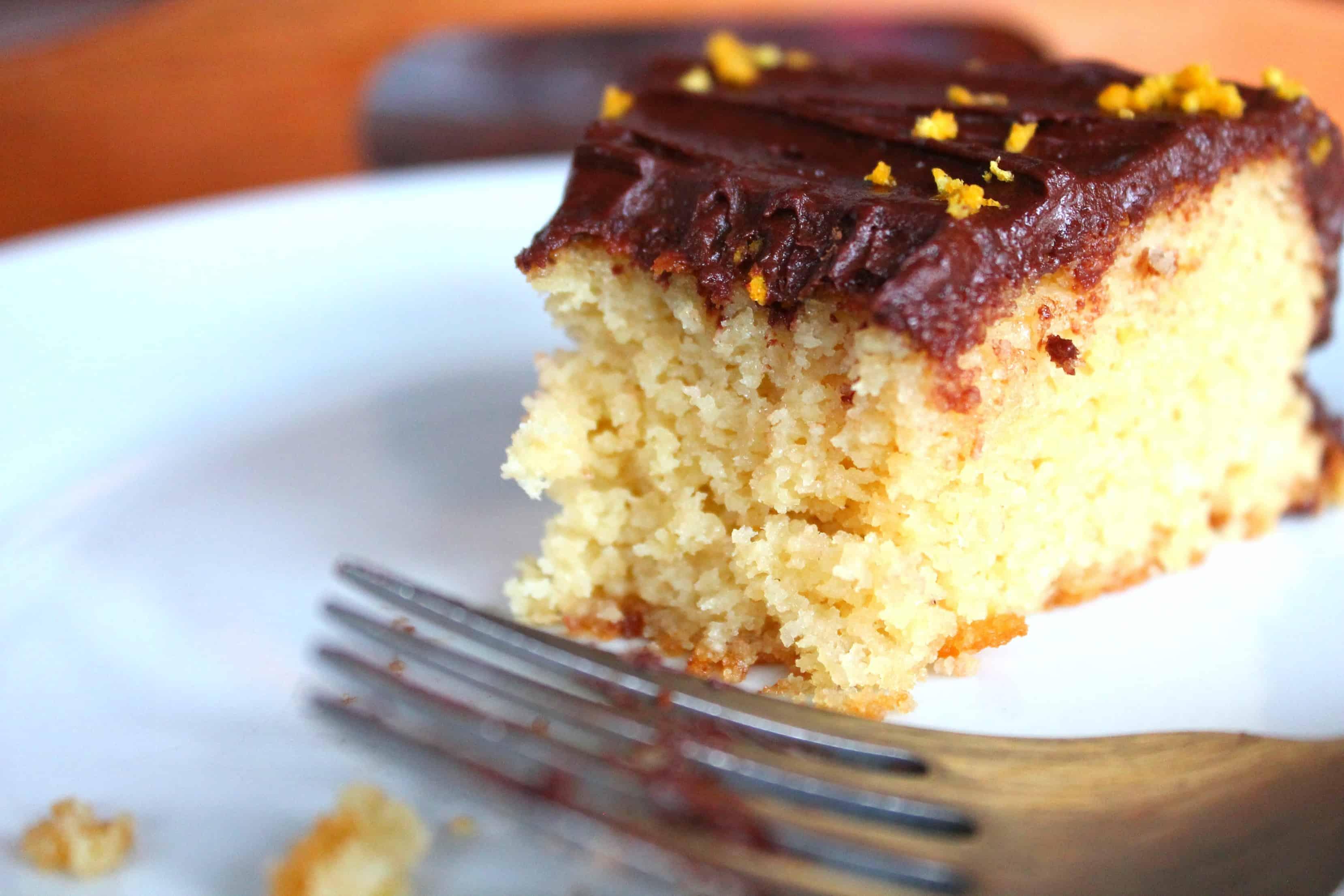 Vanilla Cake with Chocolate Espresso Frosting, paleo, gluten free,
