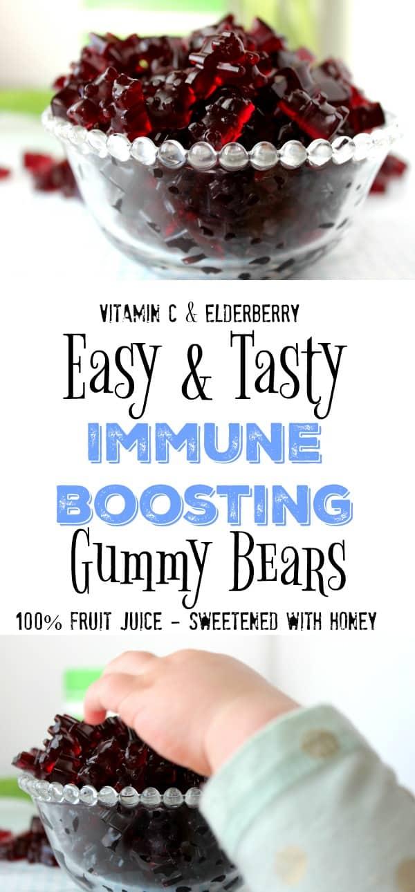 Gummy bears, gummie bears, immune boosting, vitamins, kids vitamins, elderberry,