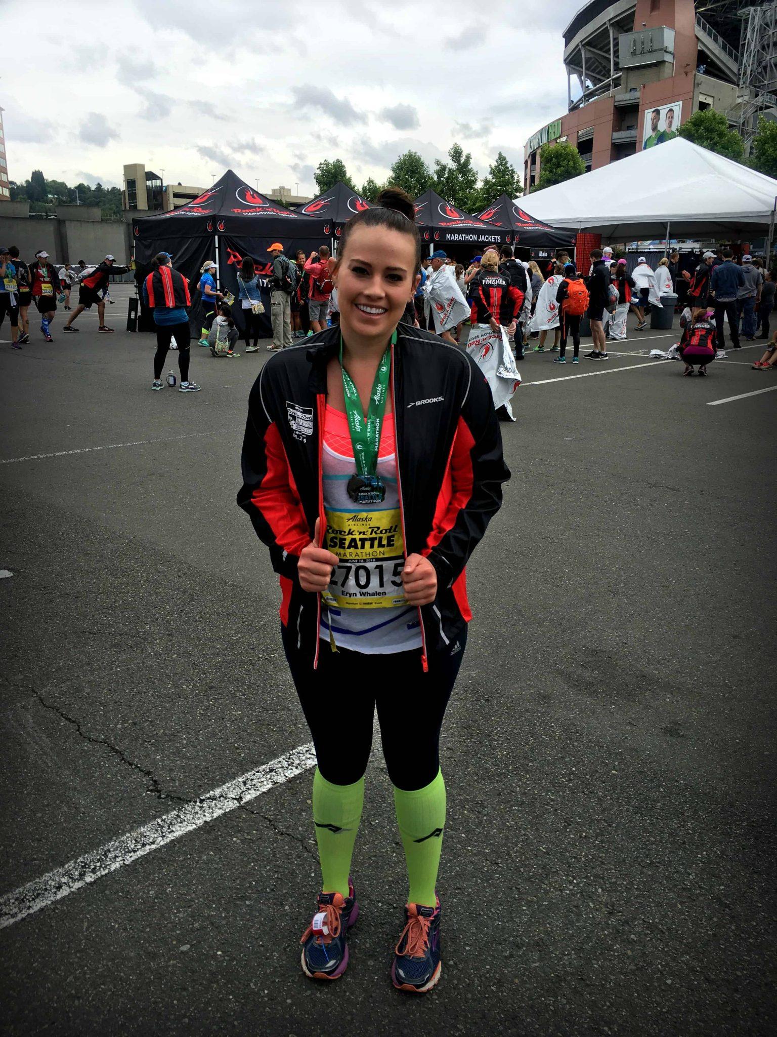 1st full marathon. Eryn Whalen Online