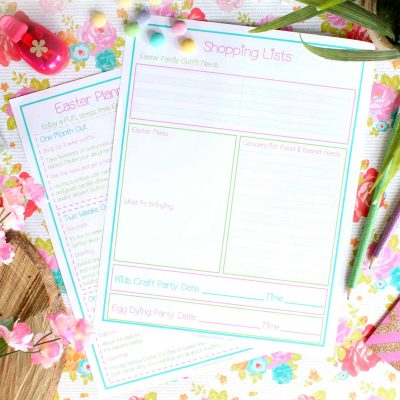 Easter Planning Schedule: FREE Printable