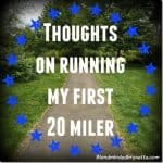 Thoughts On My First 20 Mile Run