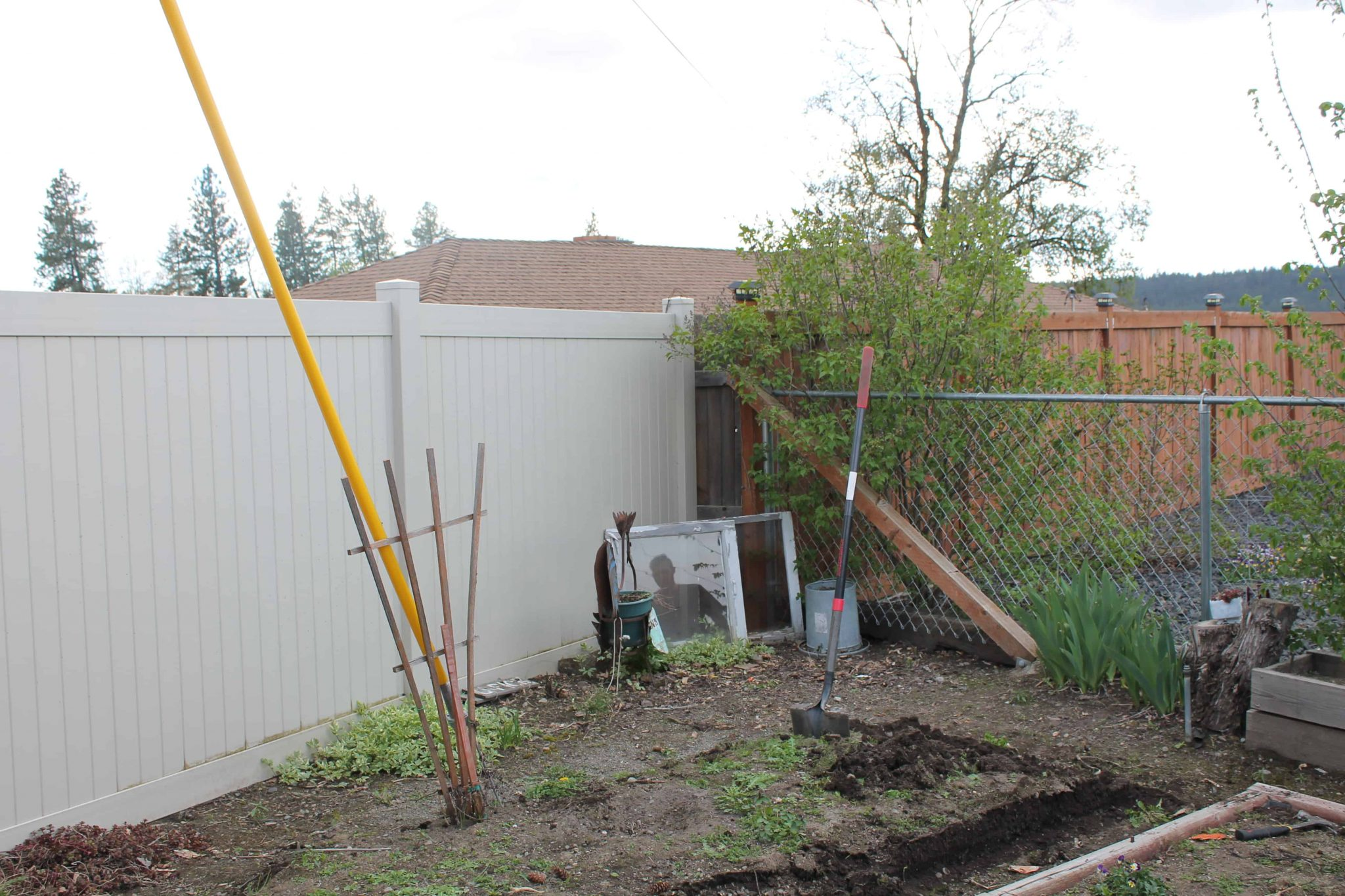 Garden update! Before and after: New chicken coop and garden layout
