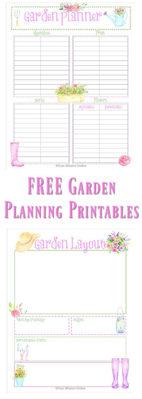 printables, gardening, planting, vegetables
