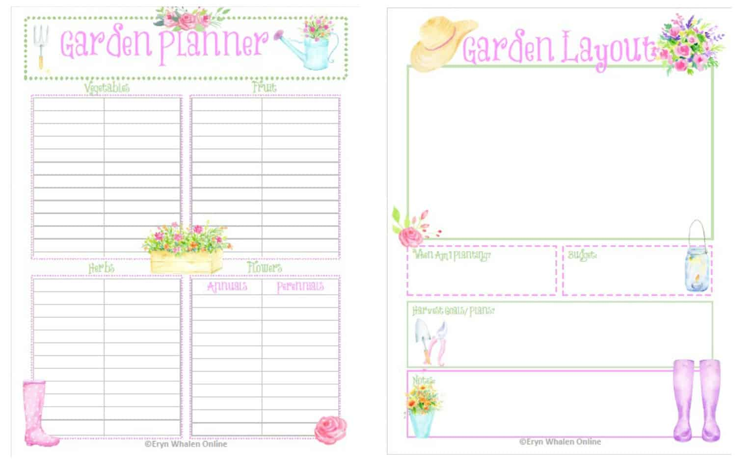 picture regarding Free Printable Garden Planner identified as Backyard garden Creating Totally free Printables - Eryn Whalen On the internet