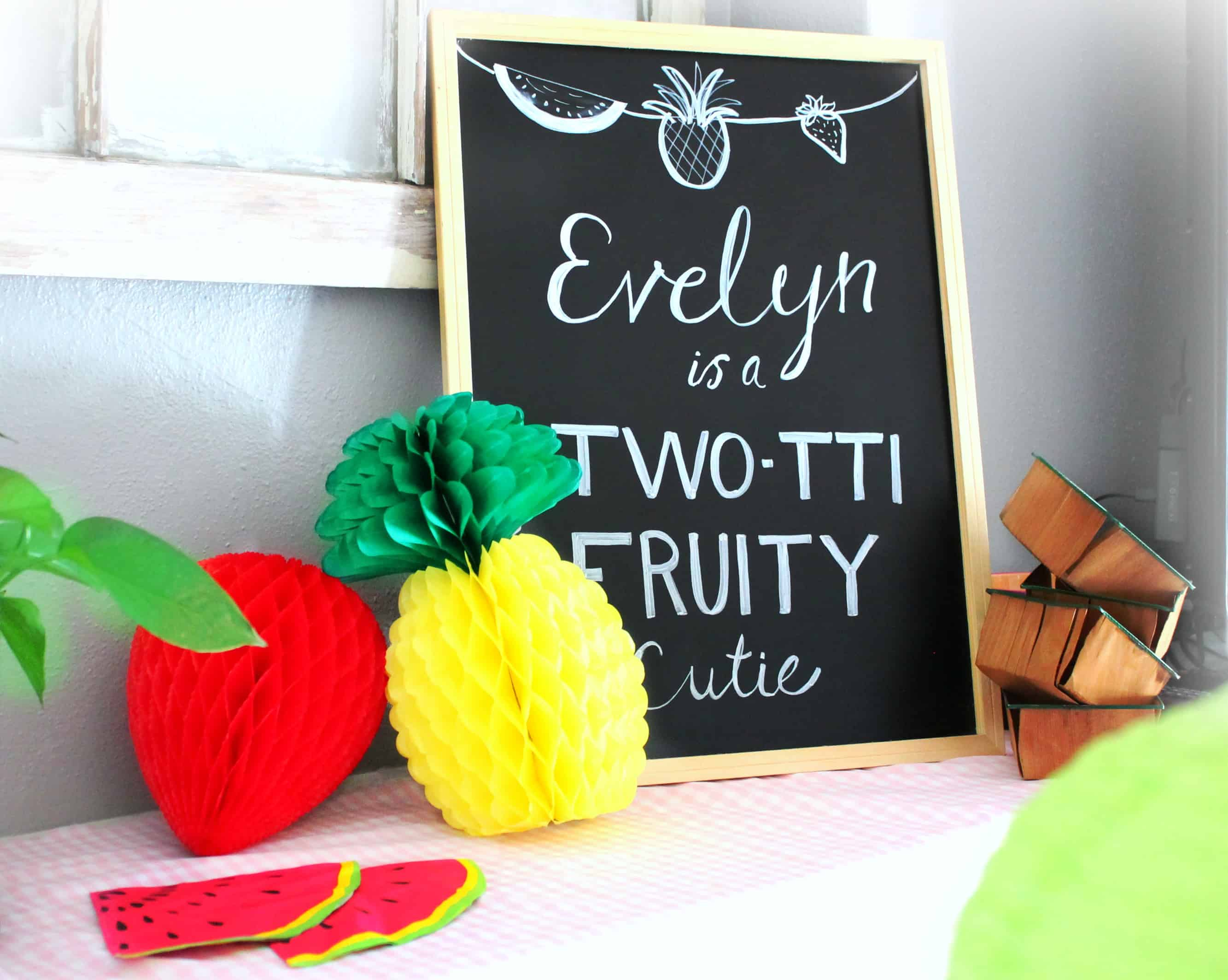 Two-tti fruity birthday, birthday theme, two year old birthday, girls birthday, summer birthday, fruit, fruity, tootie fruity, birthday party, birthday,