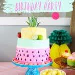 Two-tti fruity birthday cake