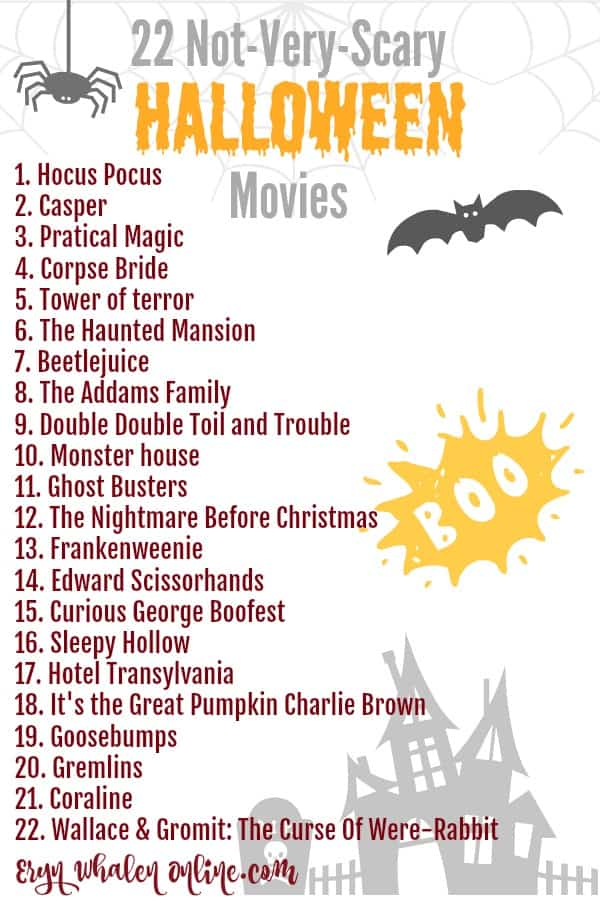 Scary movies, halloween movies, not very scary halloween movies, non scary movies, family halloween movies, movies for halloween, halloween, fall movies