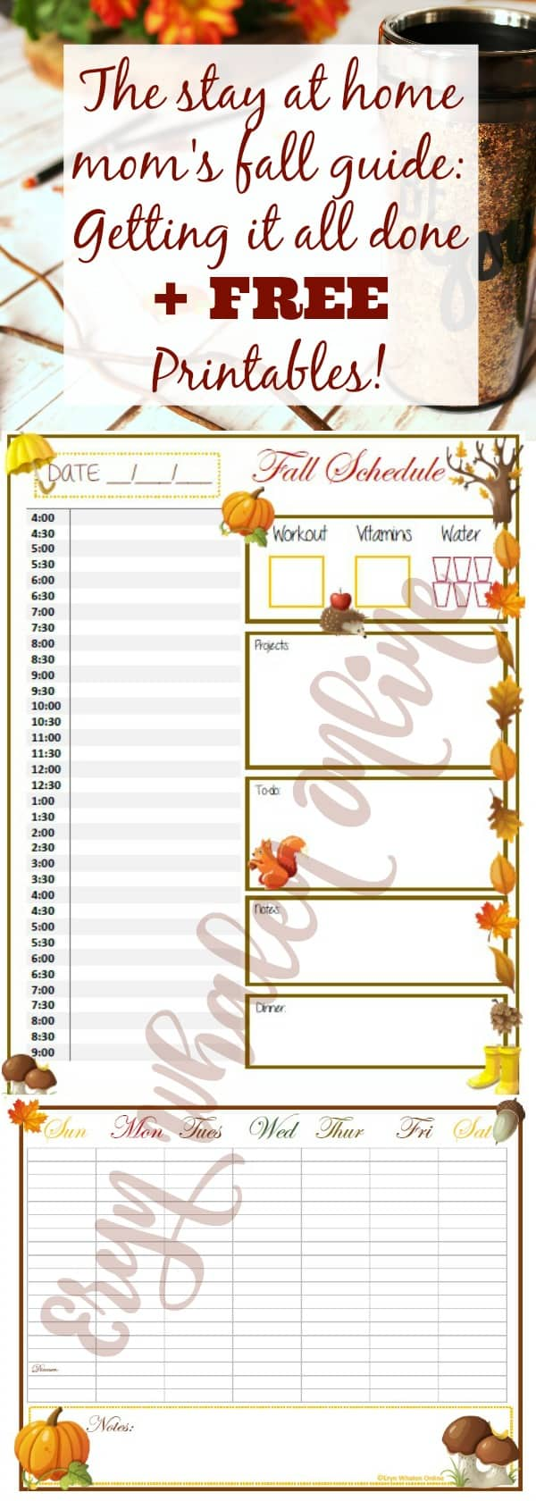 free printables, printables, fall printables, fall schedule, fall guide, getting it all done guide, how to be efficient, autumn schedule, autumn, fall, winter,