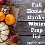 Fall Home & Garden Winter Prep Checklist