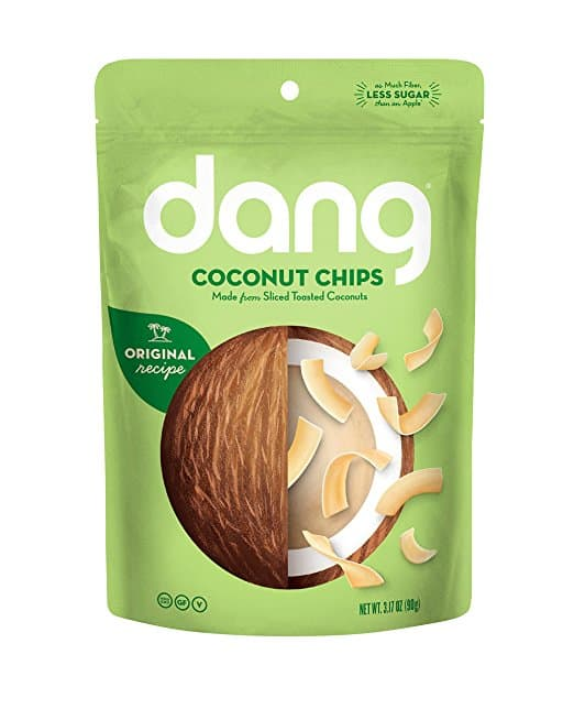 Dang coconut chips, whole30 snack ideas,