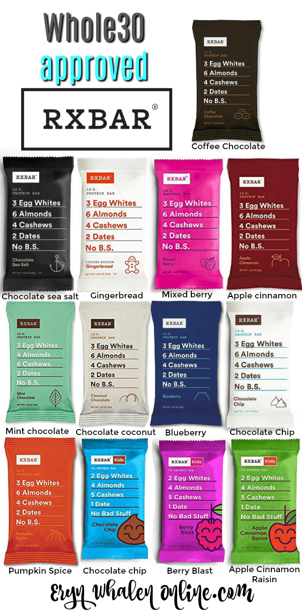whole30 snack, RXBARS, Are RXBars whole30,