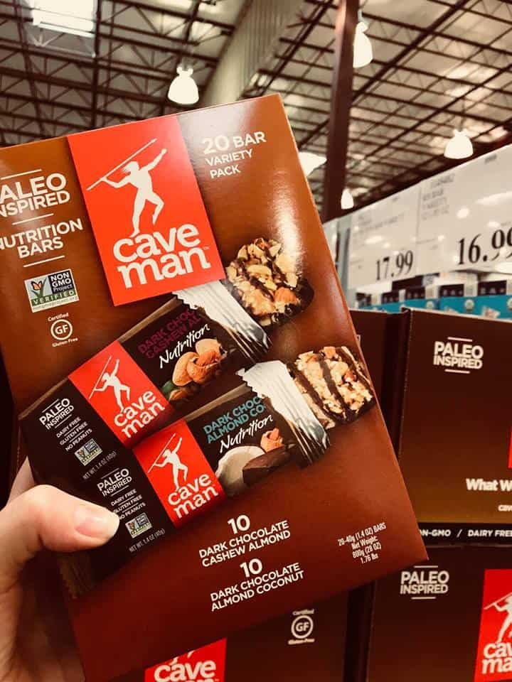 cave man nutrition bar, paleo snacks, costco, costco snacks