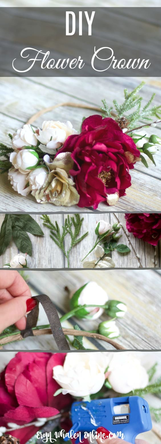 flower crown, diy flower crown, how to make a flower crown, flower crown tutorial,