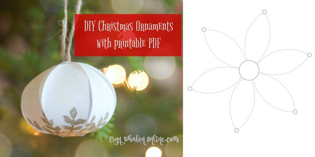 DIY ornaments + printable templates