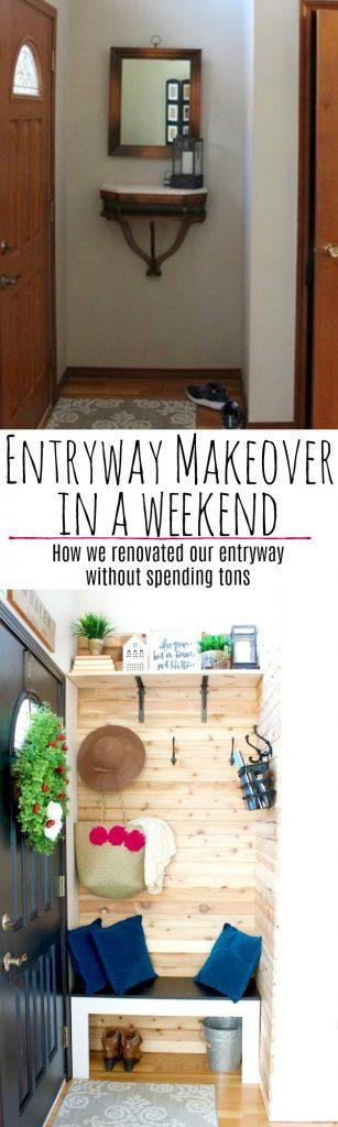 Entryway makeover, transforming your entryway in a weekend! Entryway decor, entryway inspiration