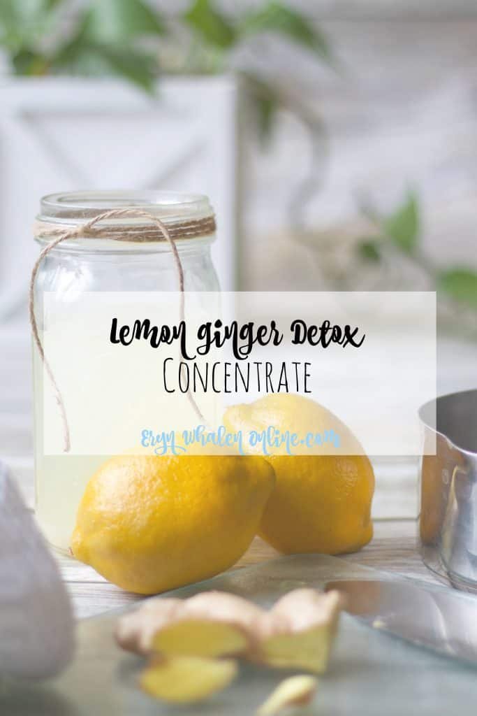 Lemon Ginger Detox Drink Concentrate