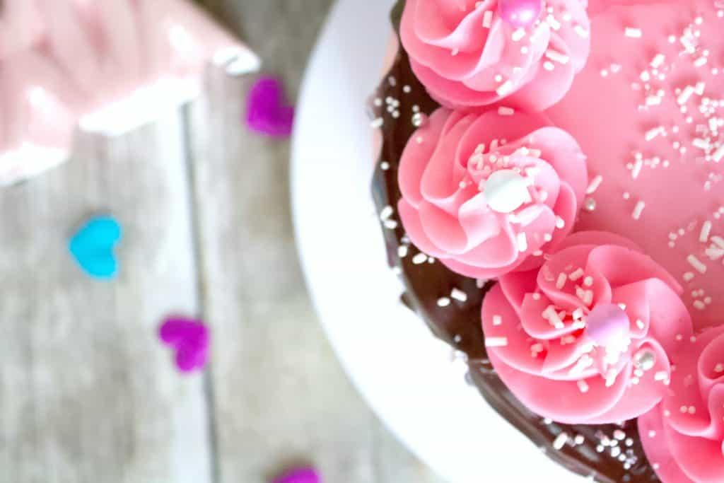 Valentines cake tutorial diy
