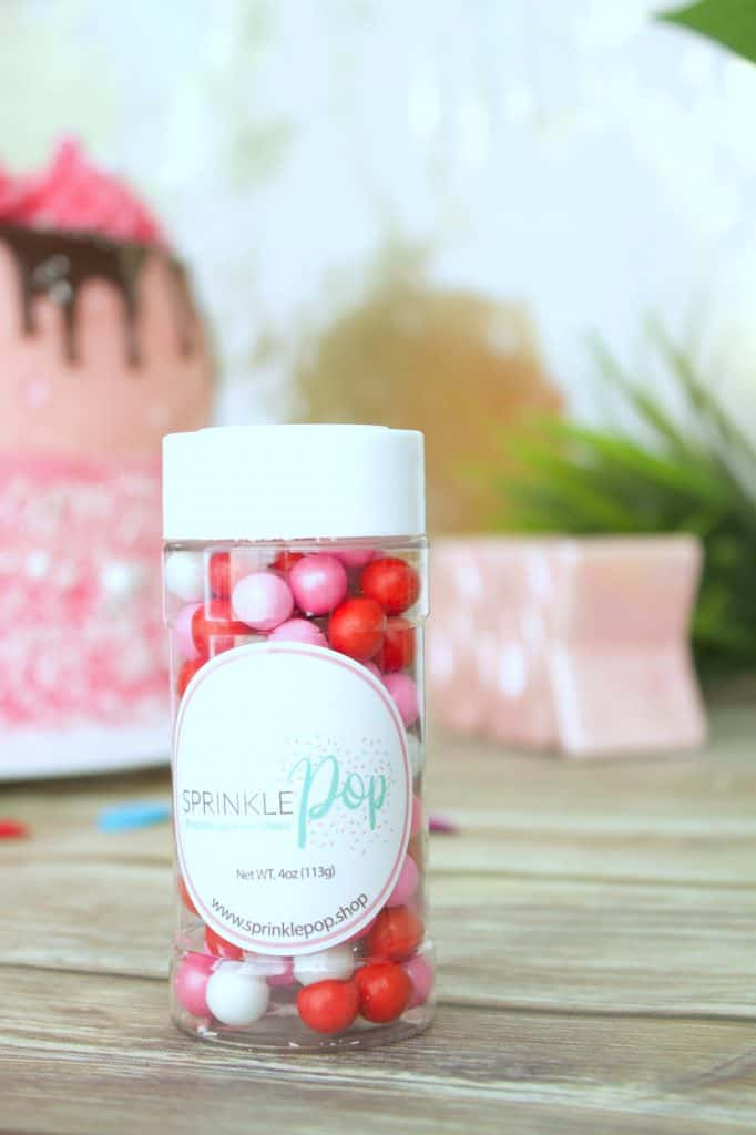 Valentines cake tutorial Sprinkle pop