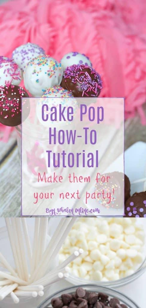 cake pop tutorial including recipes!