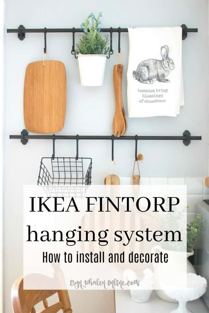 IKEA FINTORP hanging system. Perfect for kitchens, craft and playrooms, bathrooms and more. How to install and decorate.