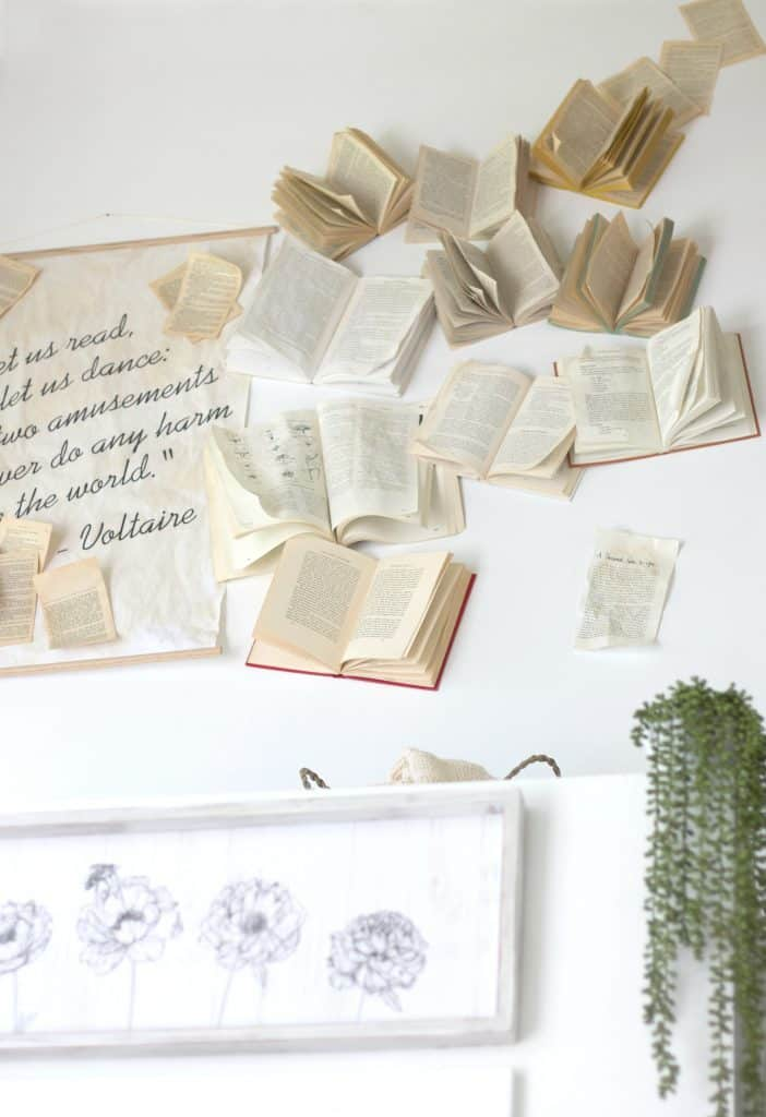 Book wall tutorial.
