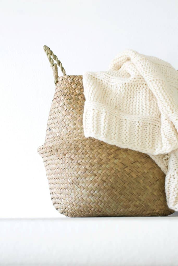 blanket and basket for reading.
