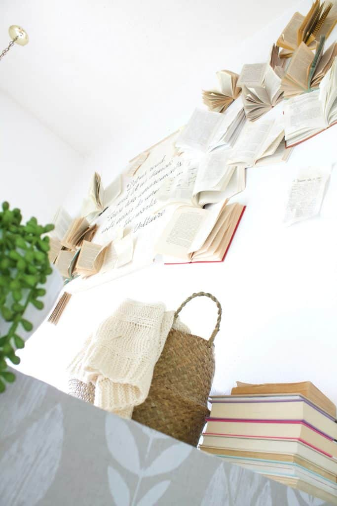 A Book Wall tutorial. How to construct a beautiful wall of books