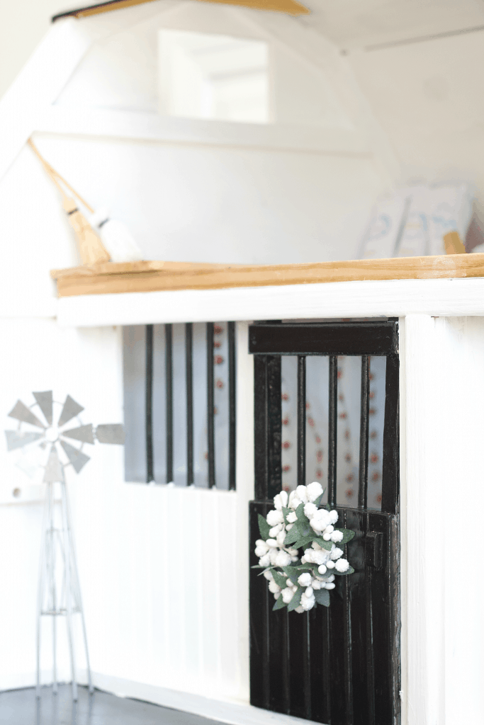 How to DIY Your Mini Horse Barn. A full tutorial. #horsebarn #diydollhouse