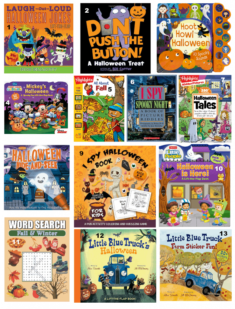 Halloween books for kids. Also fall and seasonal interactive books! Fall is a great time of year for reading! #halloweenbooks #fallbooks