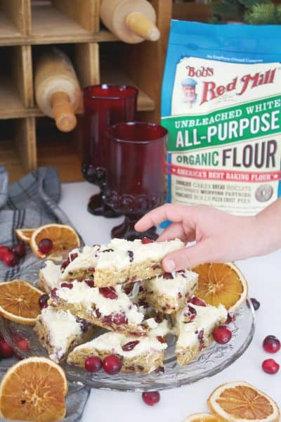 Cranberry Cream Cheese Bars with Bob's Red Mill