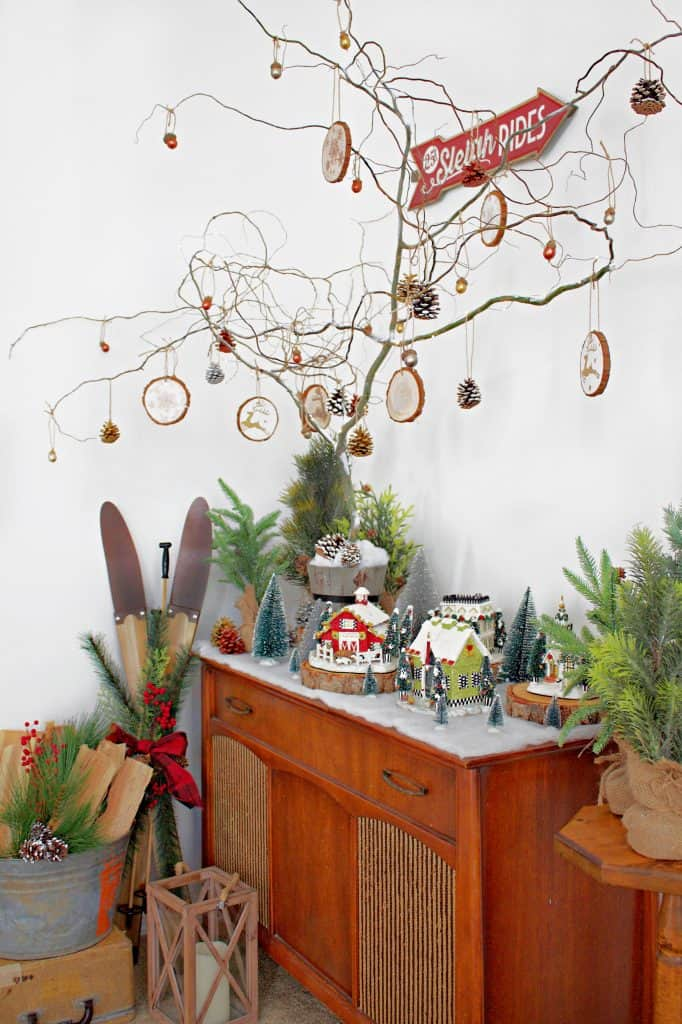 Naked Christmas tree diy. This easy tree costs next to nothing, is simple to make, and packs a huge wow factor! #christmastreediy #christmastree