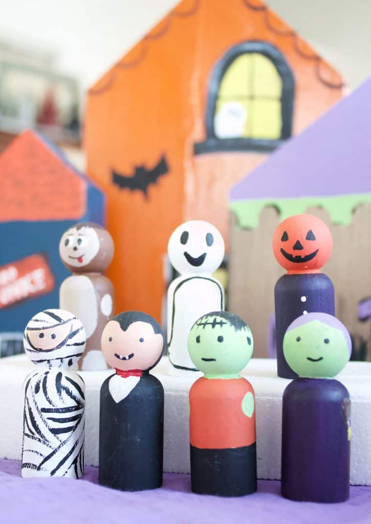 How to make an easy DIY Halloween Village