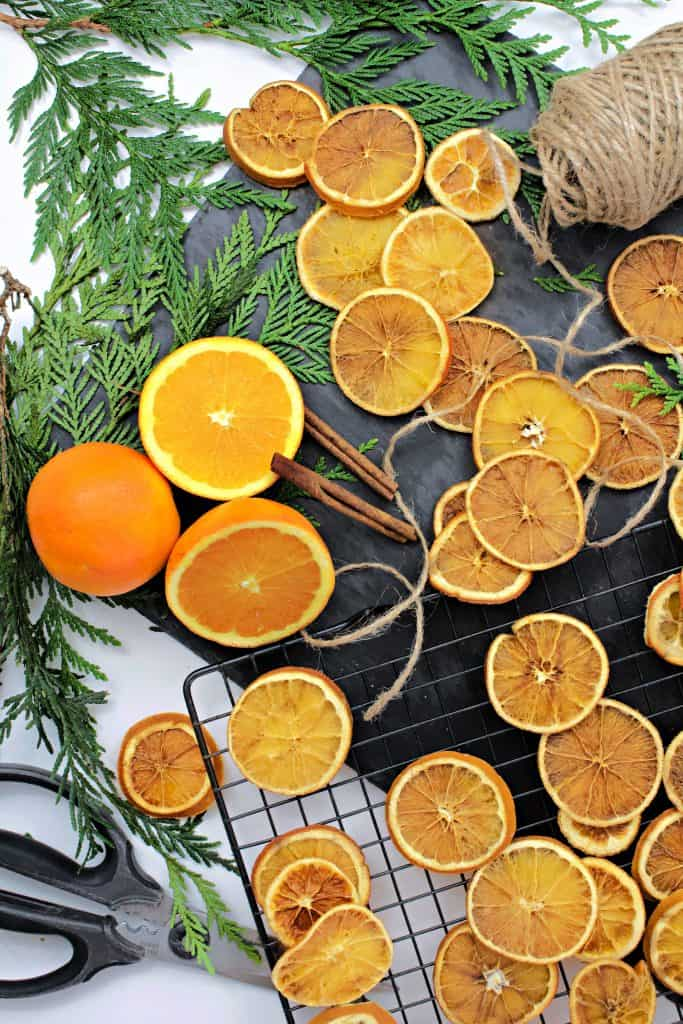 Orange Garland and Ornament Tutorial. How to make and bake them