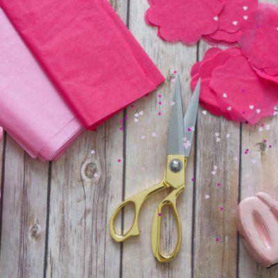 tissue paper and scissors