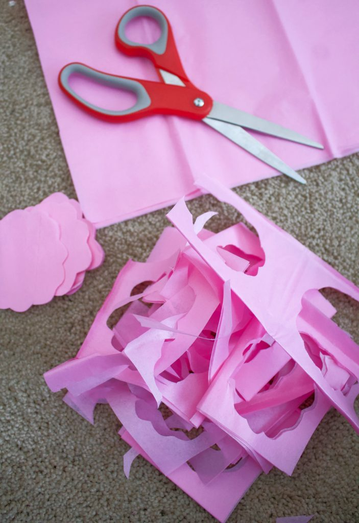 tissue paper cut outs