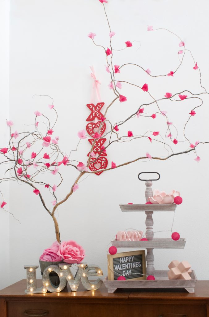 DIY Cherry Blossom Flower Tree or Bouquet for your Spring Centerpiece