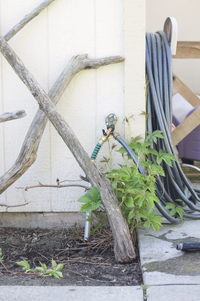 How to make an extended outdoor faucet for a garden or far area of your yard that connects to your main outdoor faucet from your home.