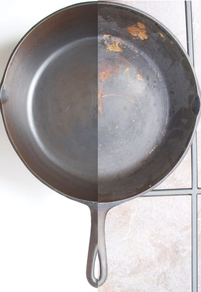 How To Season and Restore A New or Rusty Cast Iron Skillet