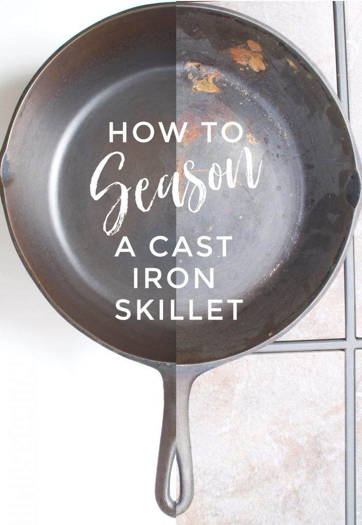 How to season a rusty cast iron skillet