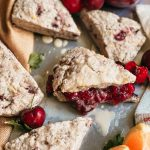 Fresh Cherry Scones with Orange Zest
