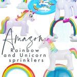 Amazon Rainbow and Unicorn Sprinklers