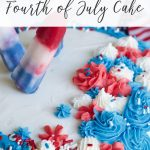 red white and blue Fourth of July cake diy