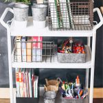 School Cart for Homeschool Organization