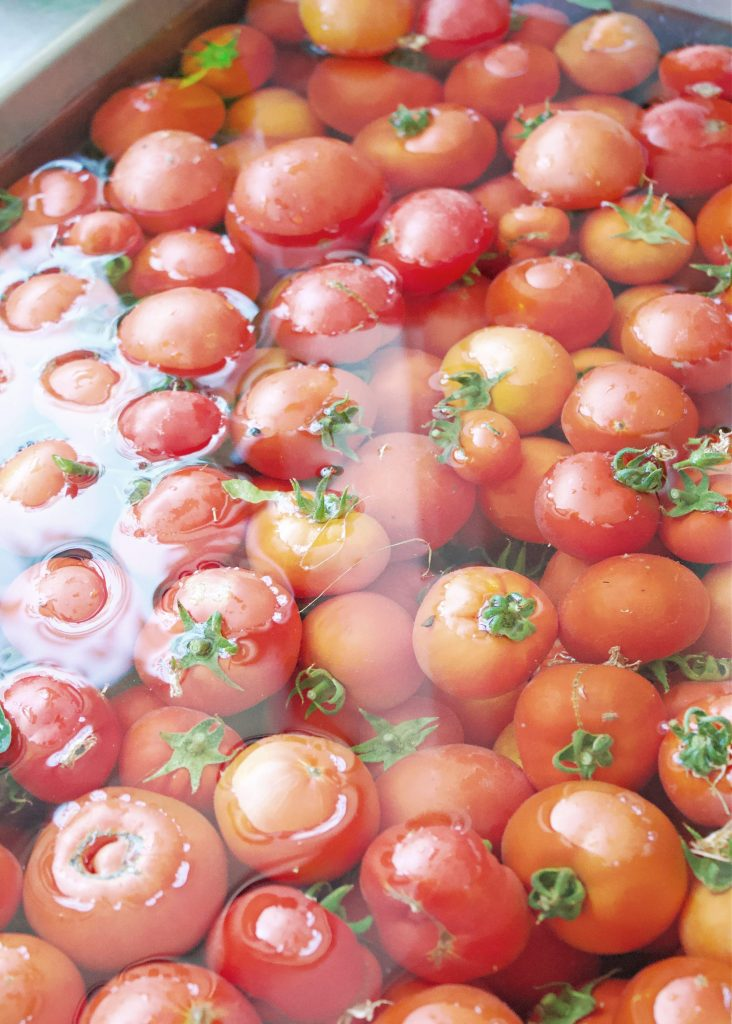 Raw packed canned tomatoes for winter stews and soups. Very easy to can and you'll have a winters worth of tomatoes for all your hearty cold weather dishes. #tomatoes #canned tomatoes