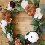 Pumpkin and Floral Fall Wreath For The Front Door