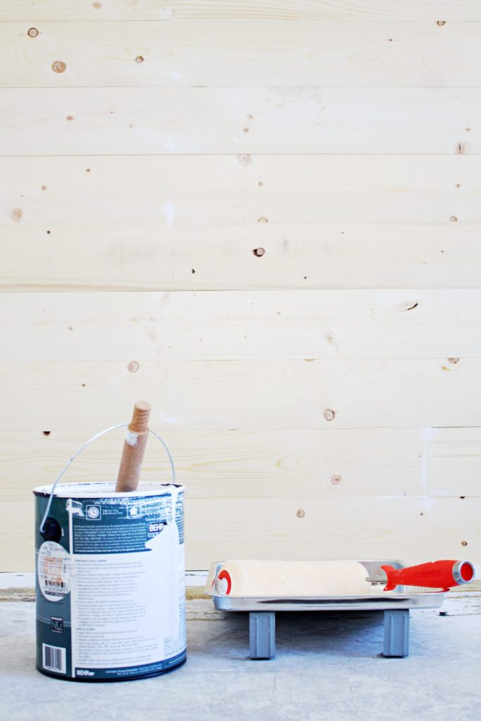 Have questions about how to paint shiplap? Like what paint finish to use on shiplap? How to paint the cracks? Or tounge and groove?