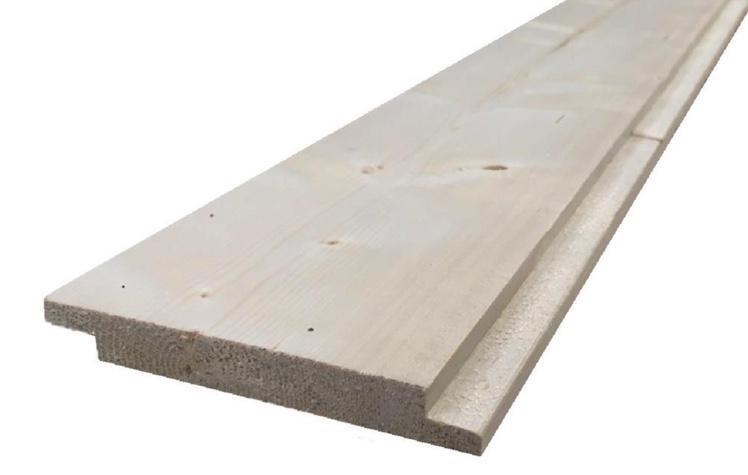 Straight edge pine shiplap board