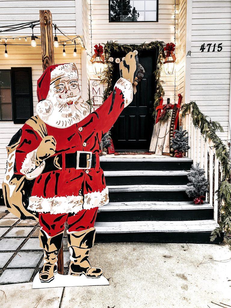Paint Santa | A larger Than Life Paint By Numbers Santa Cutout