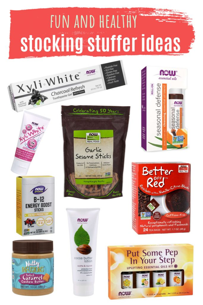 A great list of healthy stocking stuffers you can add to your family's stocking this Christmas. #stockingstuffers