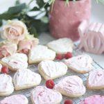Ombre Valentine's Cookies with Orange Zest Raspberry Frosting